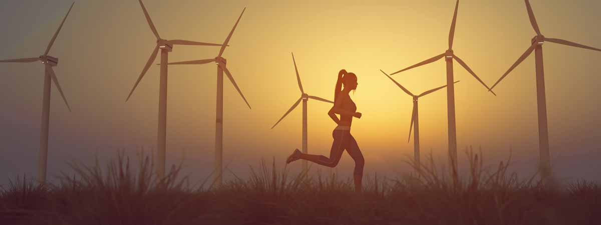 correre con il vento